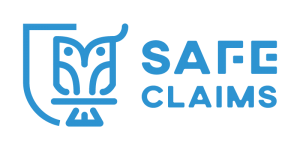 Safe Claims logo Blue